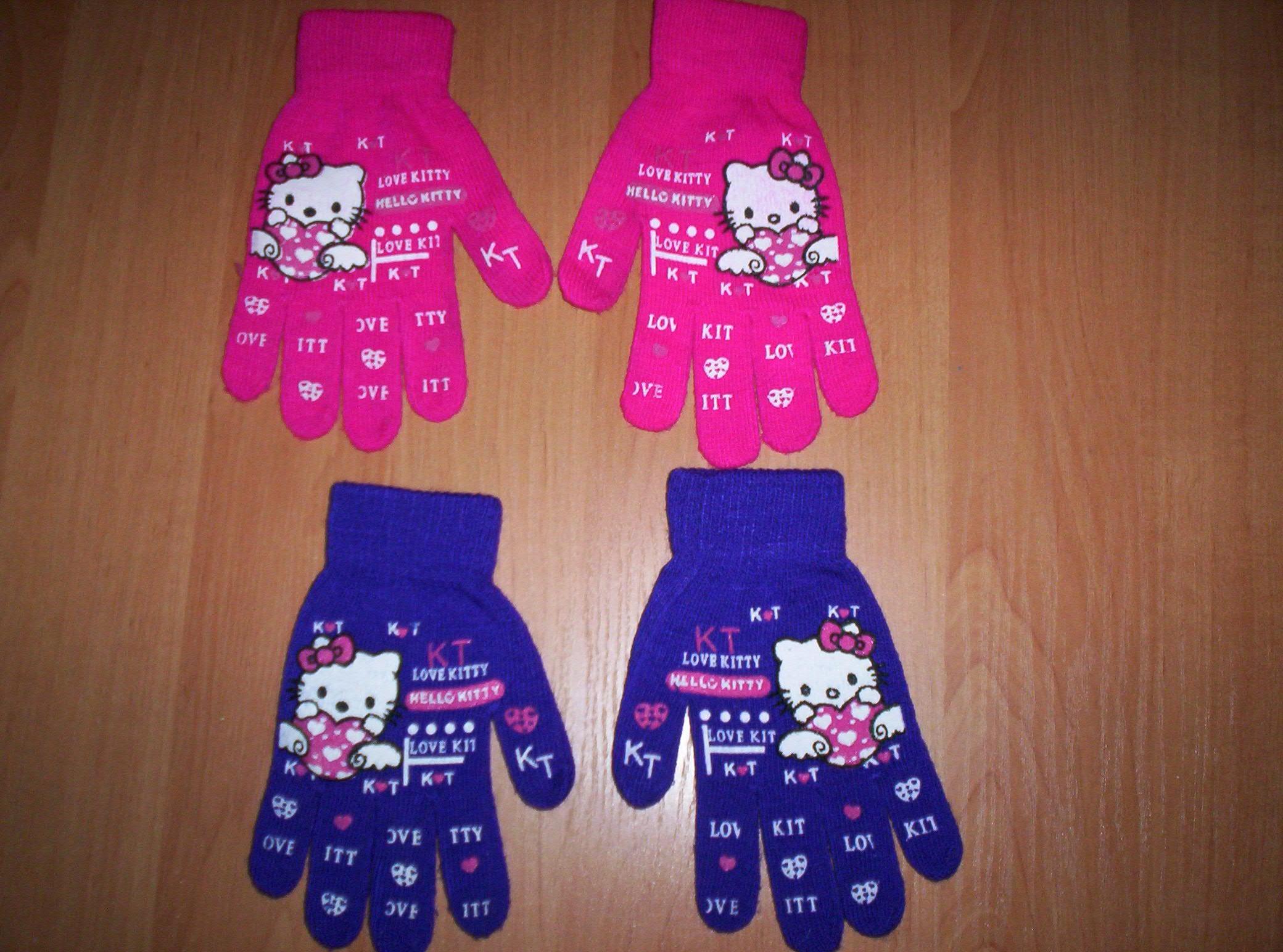 2 pary rękawiczek HELLO KITTY