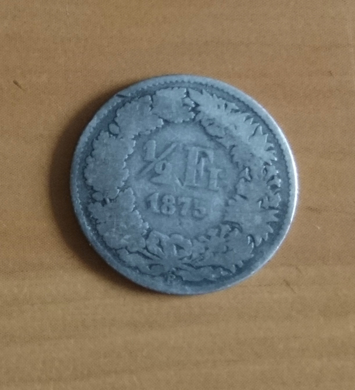 szwajcaria - 1/2 franka 1875 srebro