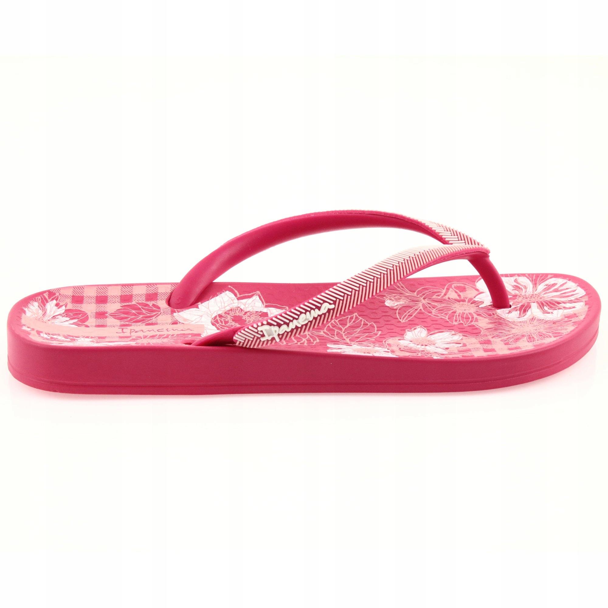 Różowe Gumowe Buty Klapki Sportowe Ipanema r.37