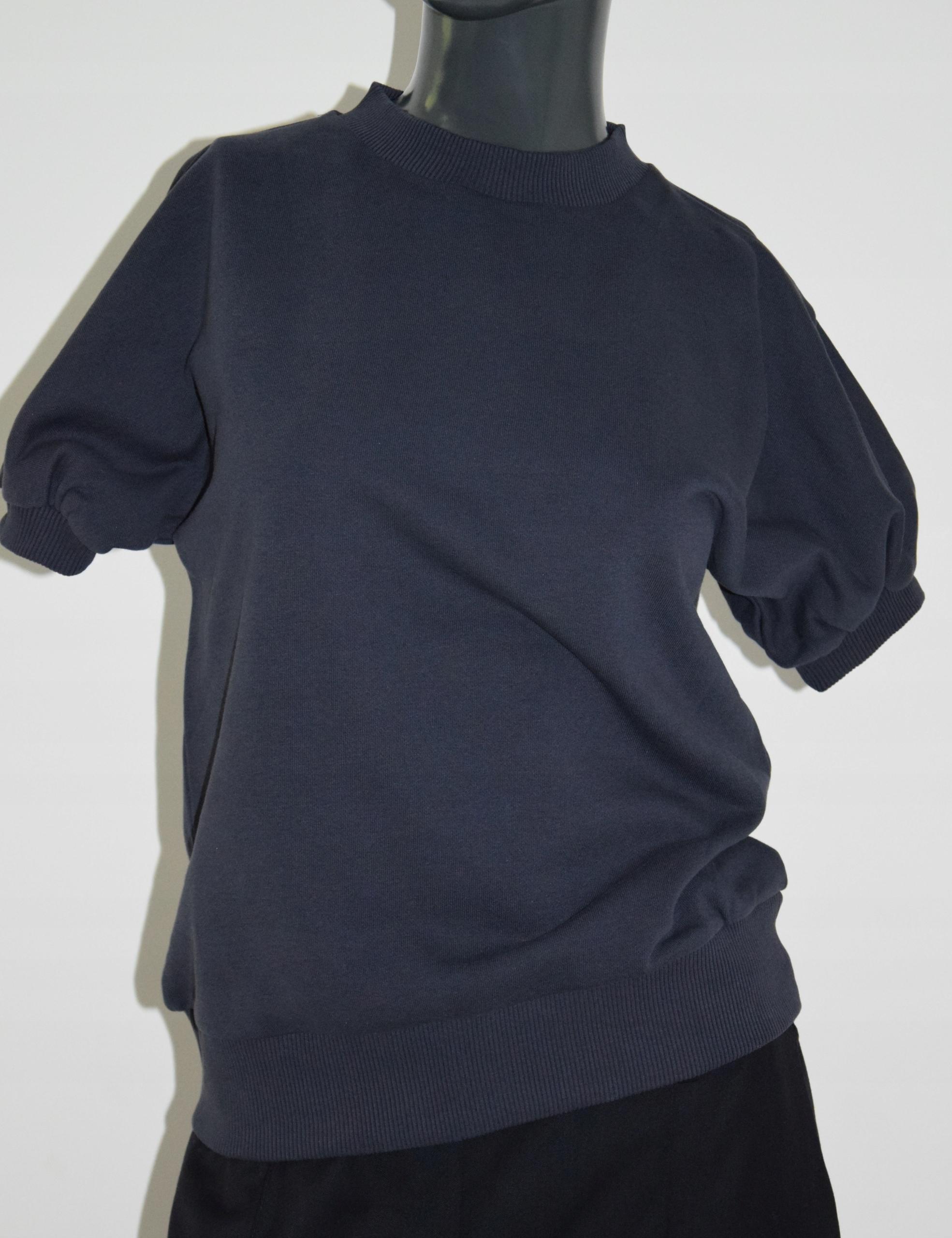 cos dresowa granatowa bluzka bawełna bufki XS/34