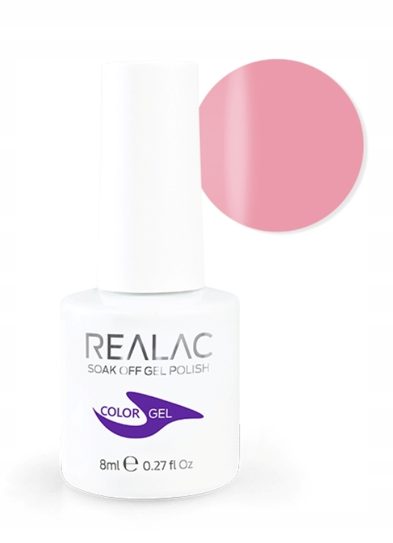 Realac Color Gel lakier hybrydowy 44 Iced Pink 8ml