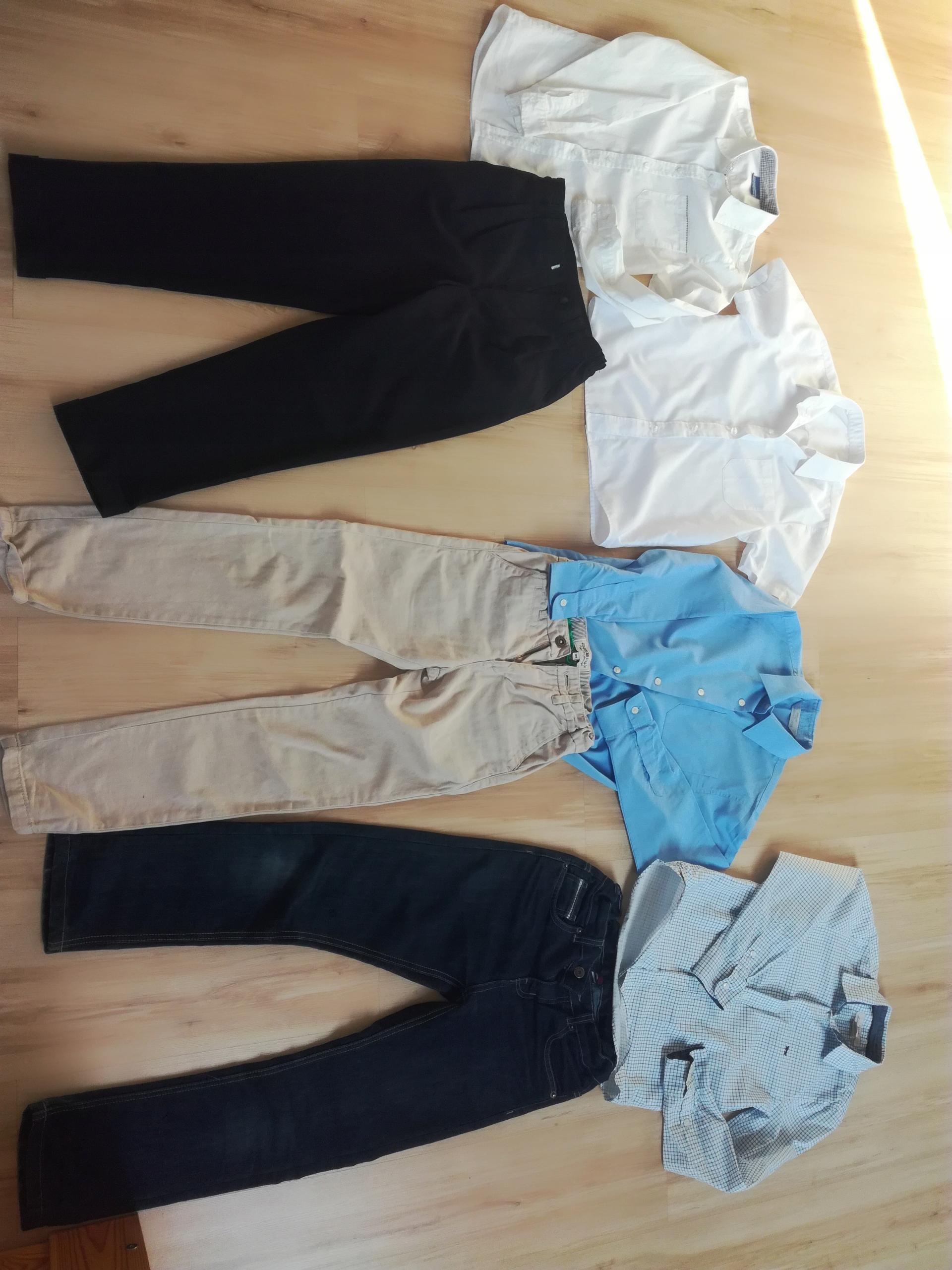Zestaw 134-140 okazje szkoła koszula spodnie