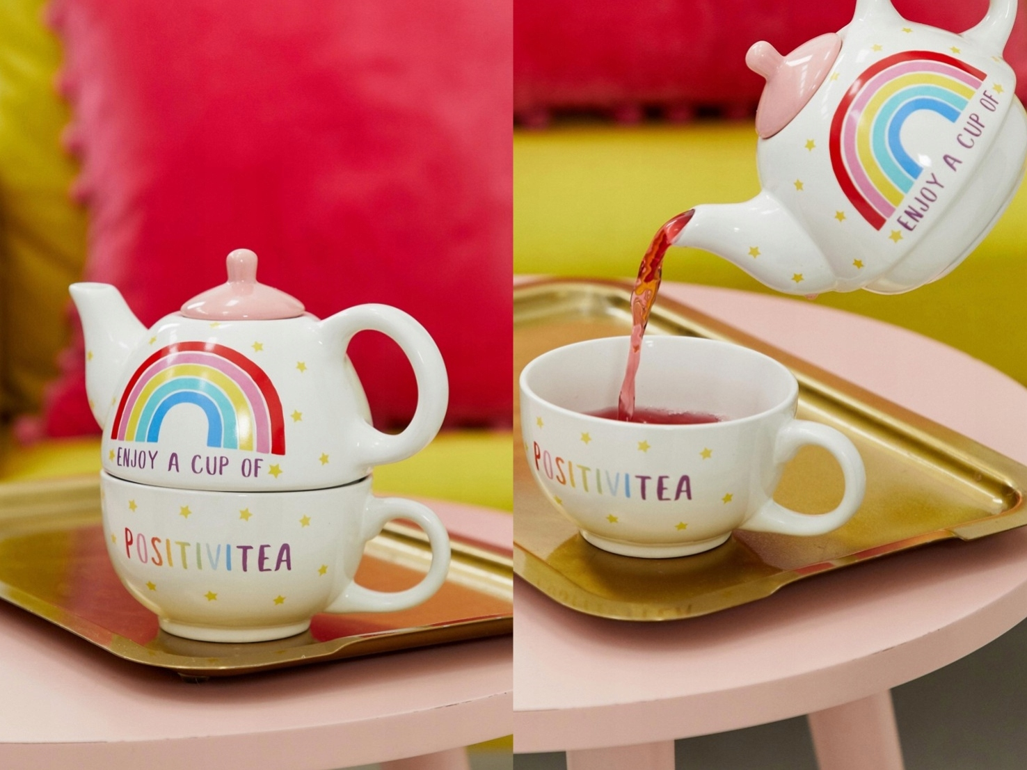 Sass & Belle - Czajnik Rainbow porcelana