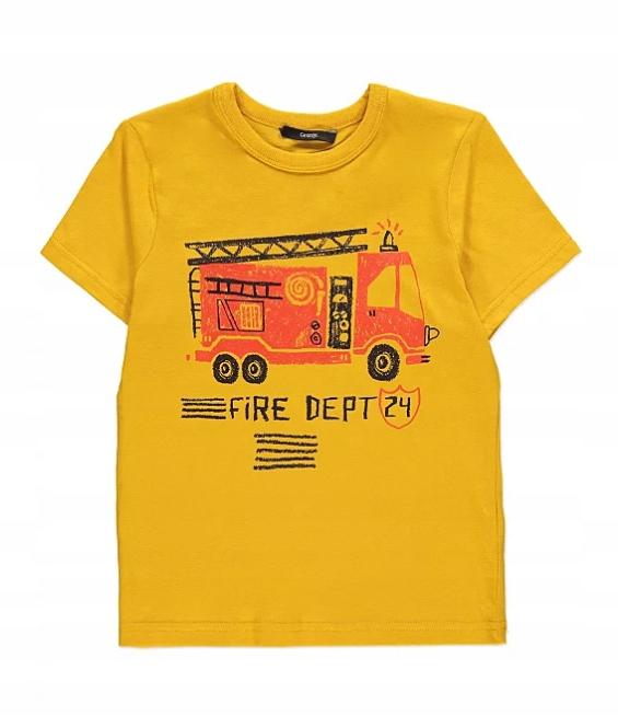 George t-shirt koszulka z wozem strażackim 110/116