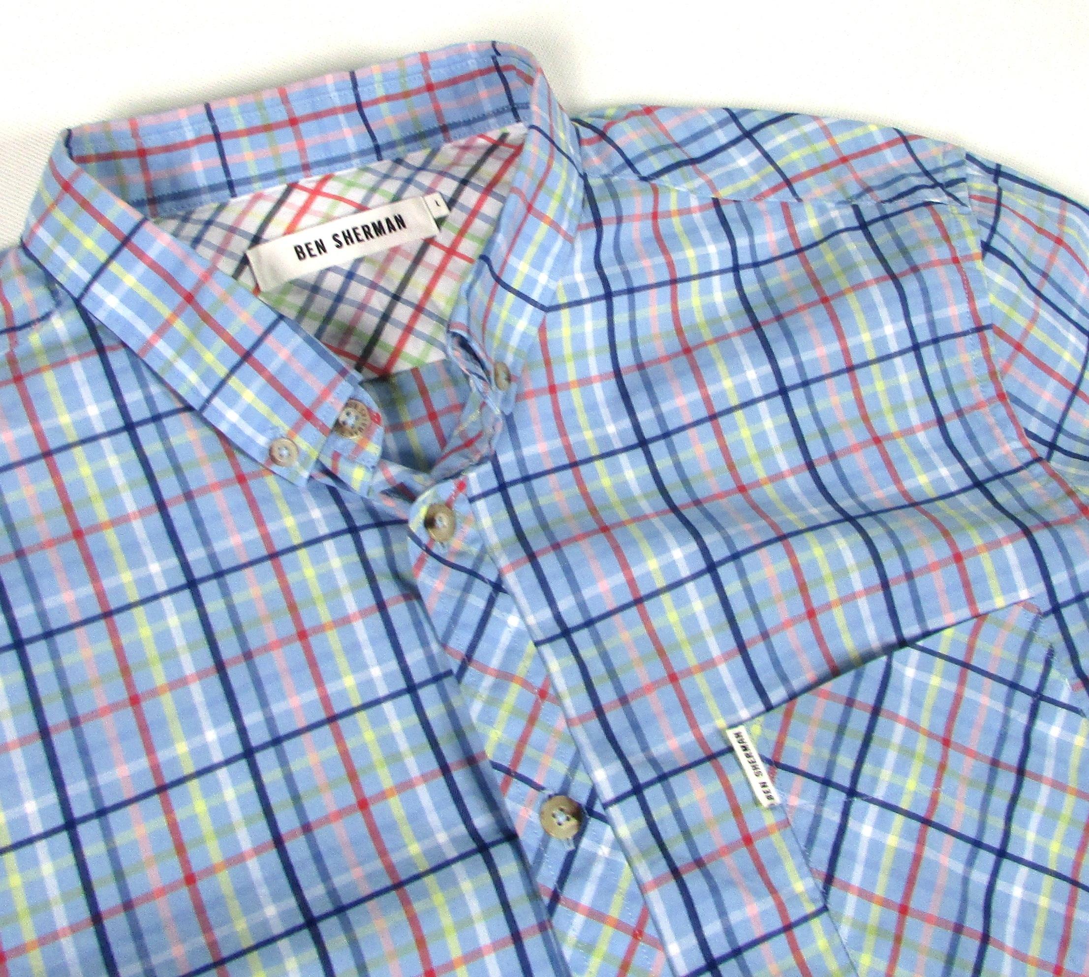 ** BEN SHERMAN **__M__Modna koszula w kratkę_IDEAŁ
