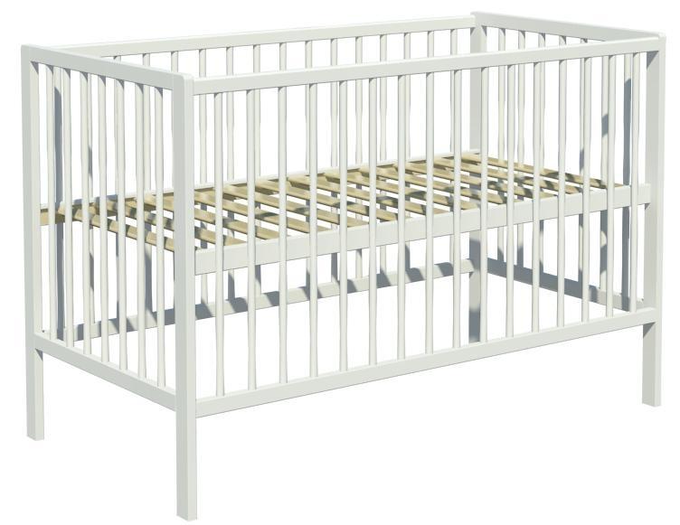 Łóżeczko dziecięce DOMINIK 120x60cm białe