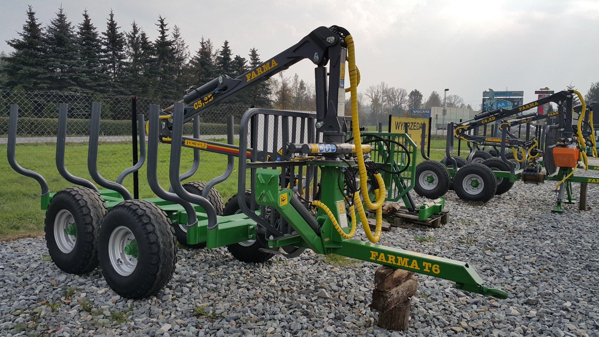 PRZYCZEPA LEŚNA FARMA 6t HDS DŹWIG ŻURAW 3,8m