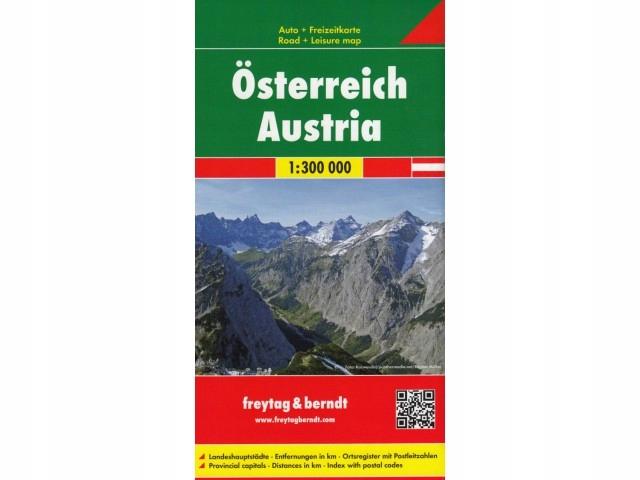 Austria mapa samochodowa Austrii 1:300T Freytag