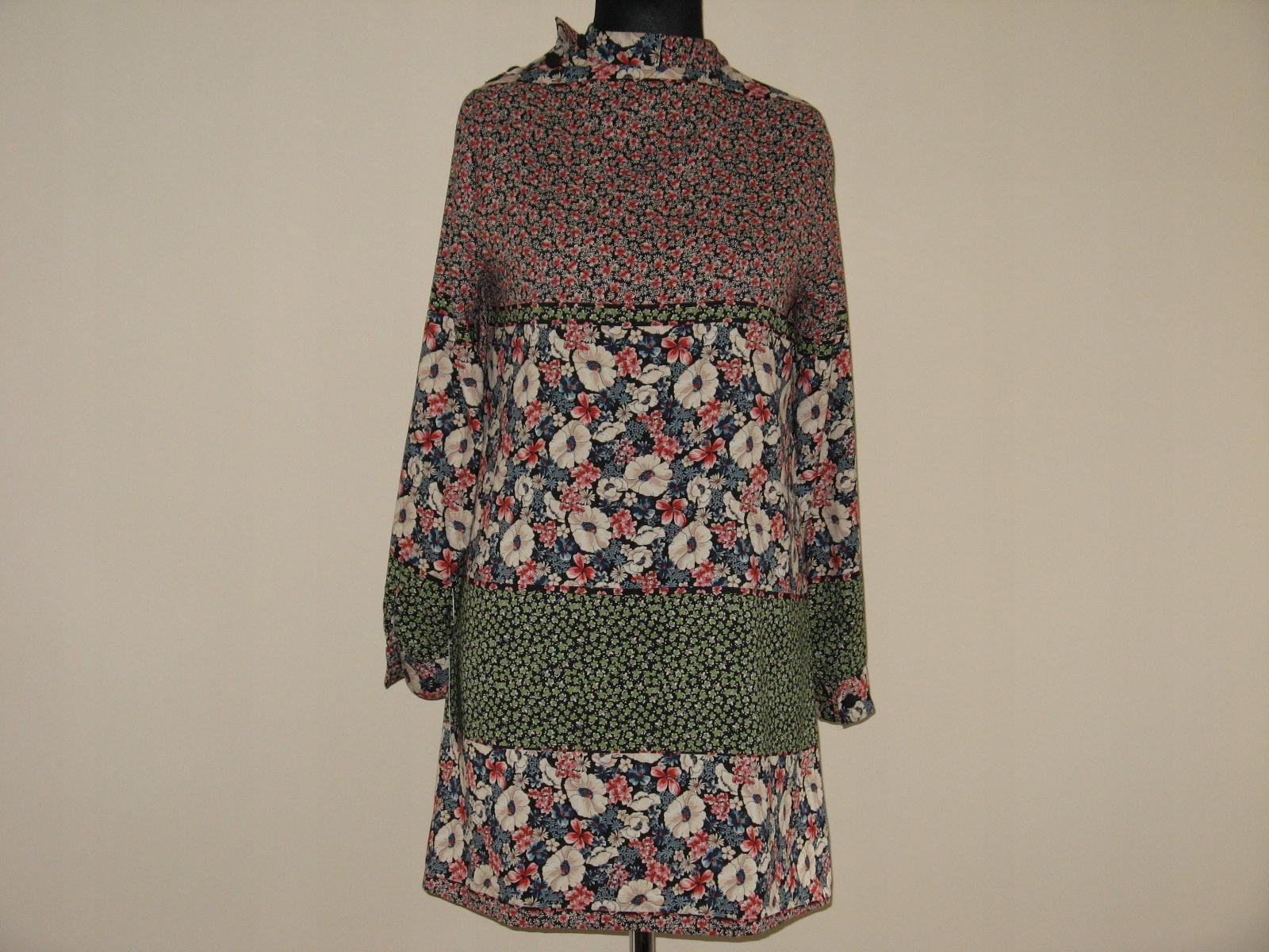 kolorowa sukienka w kwiatki roz.M ; Zara
