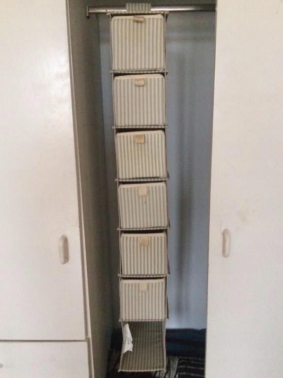 Materiałowe Wiszące Półki Z Szufladami Ikea 7762736837