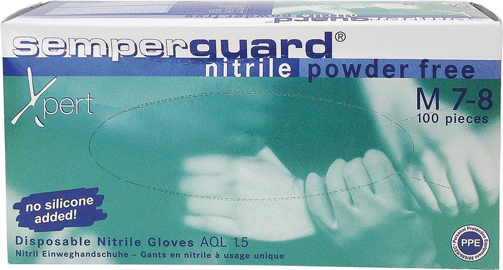 Rękawice nitrylowe bezpieczne 100 szt M XPERT