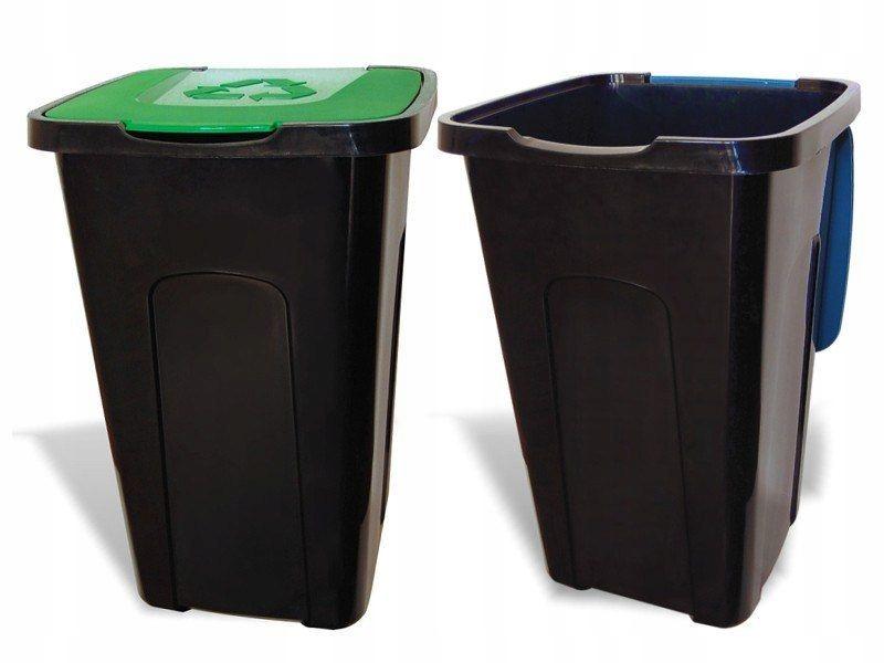 POJEMNIK NA ODPADY SORTA ŻÓŁTY 50L śmieci segregac