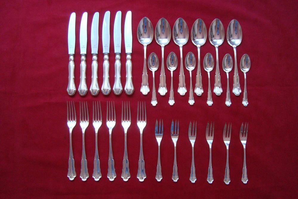 Piękne zabytkowe srebrne sztćce Wilkens 800 30 szt