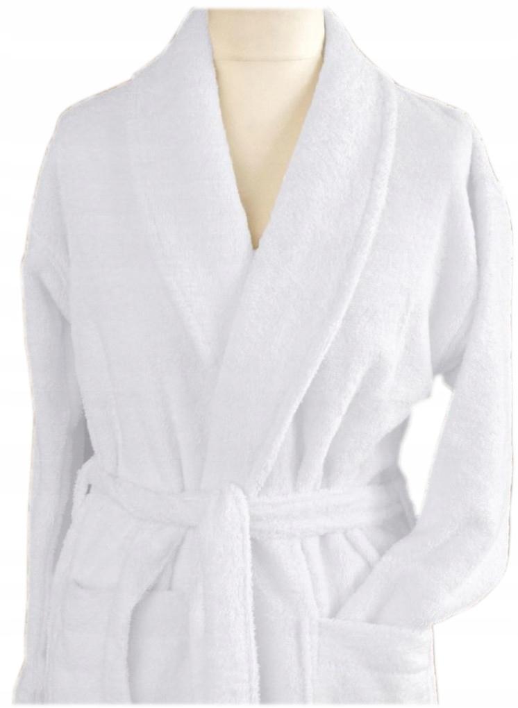 Szlafrok płaszcz kąpielowy Cortina XL Greno biały