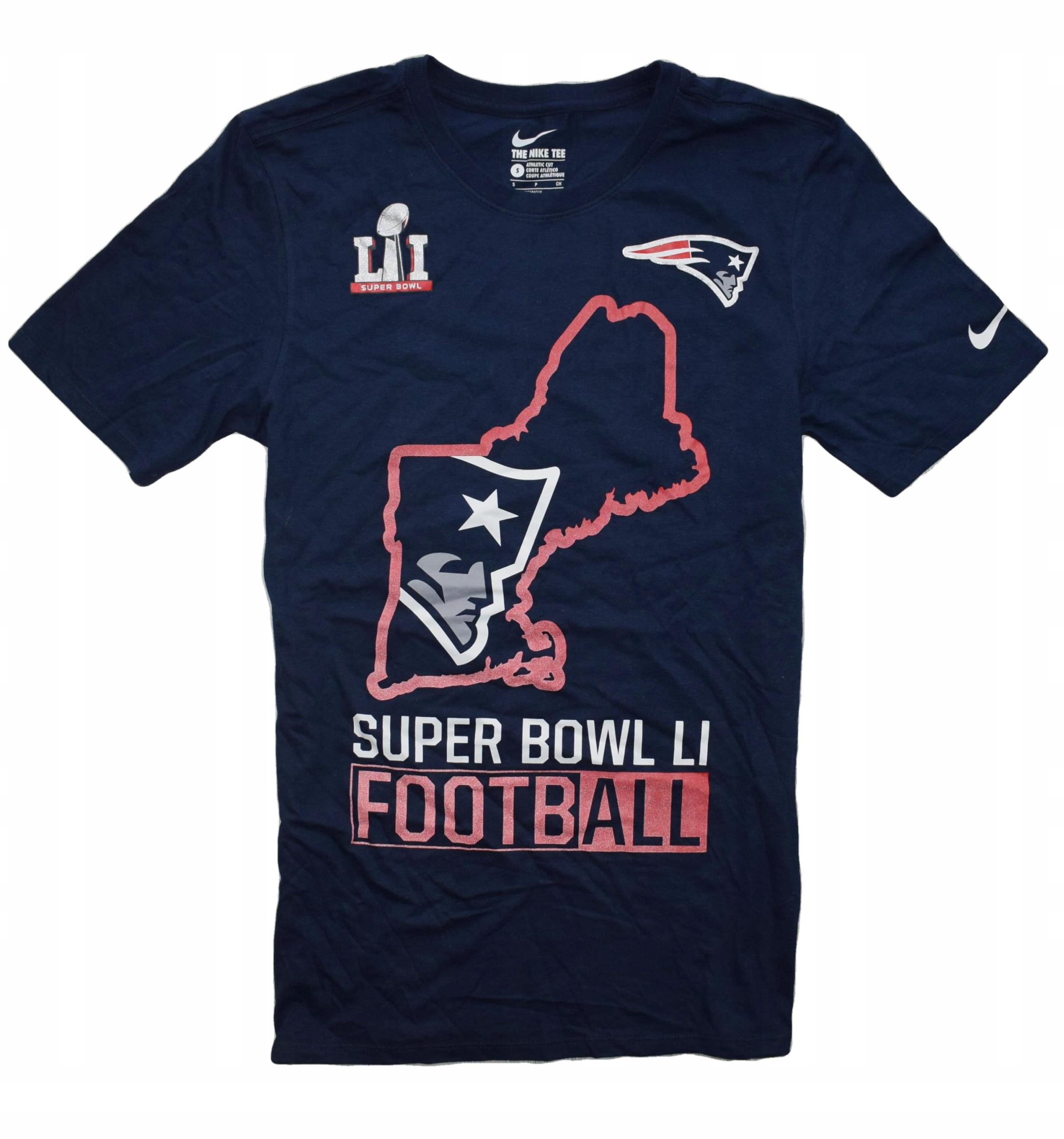 Nike Patriots S t-shirt SUPER BOWL footabll ameryk