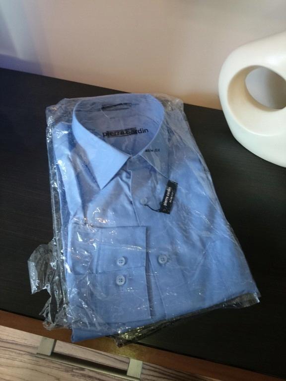 Pierre Cardin koszula męska blue slim fit L 32 33