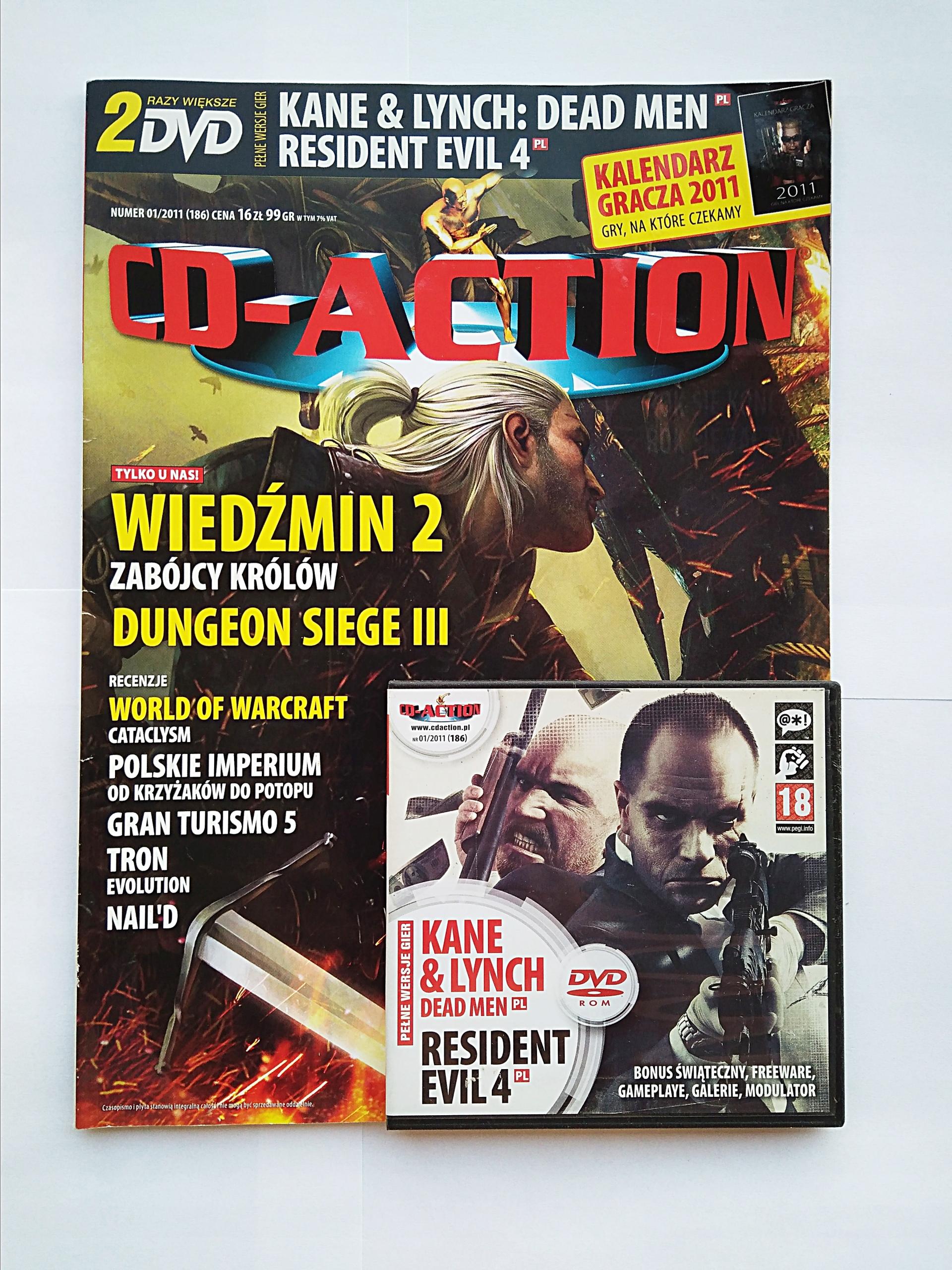 Cd-Action nr186 01/2011 Gazeta z grami na DVD