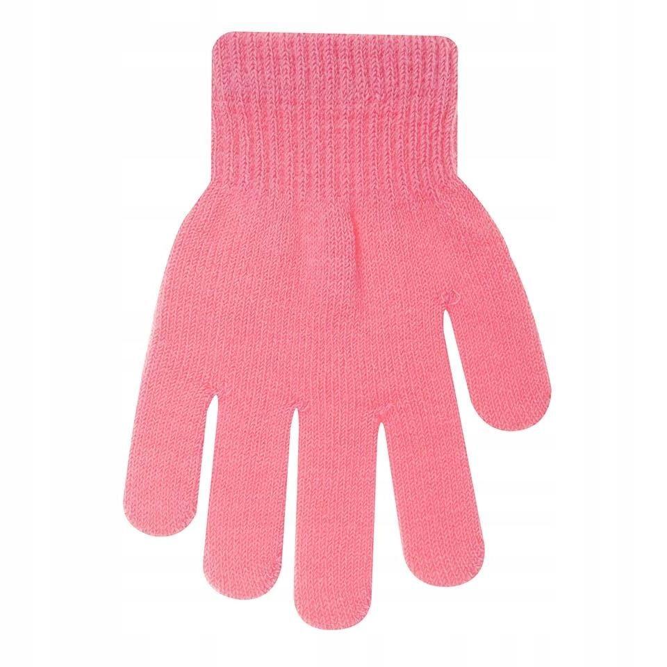 Rękawiczki ocieplane jasnoróżowe 12 cm