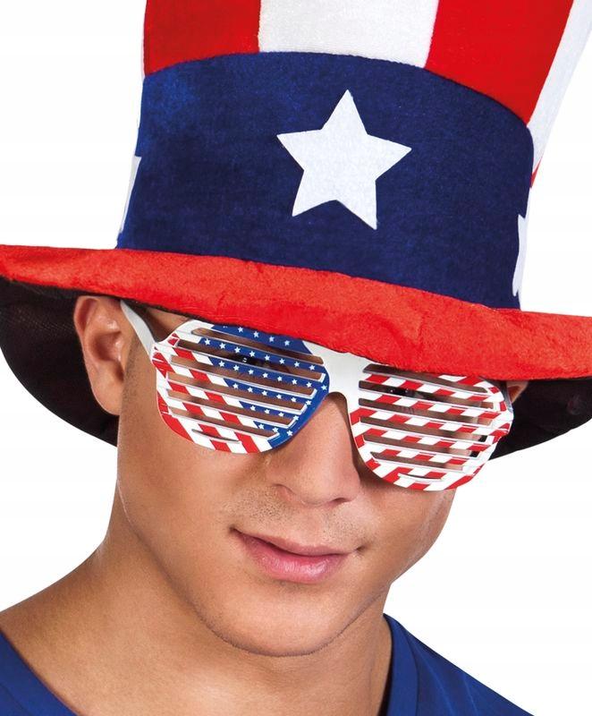 OKULARY ŻALUZJE USA FLAGA AMERYKAŃSKA PARTY 02595