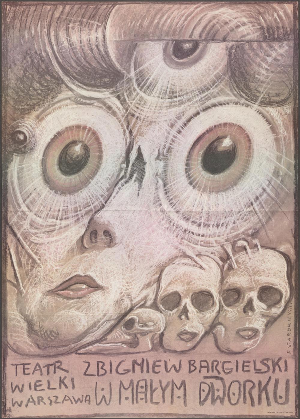 Plakat 1983 - Starowieyski, 'W małym dworku'