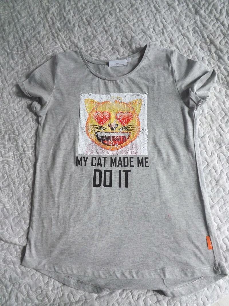 C&A koszulka z podwójnym obrazkiem 158/164