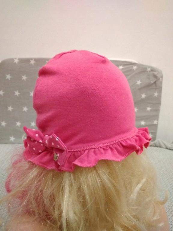 Reserved wiosenna czapka różowa r. 80 9-12m BDB
