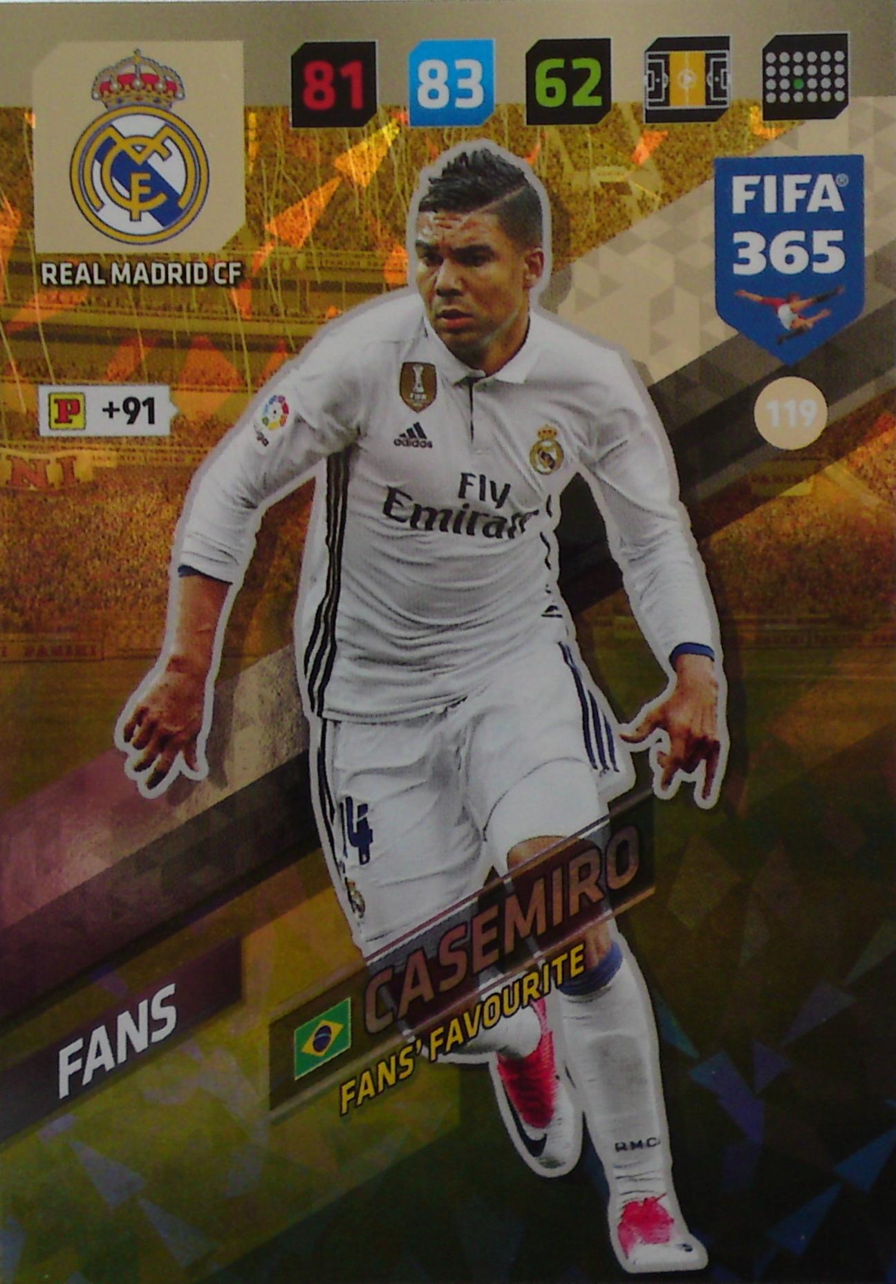 FIFA 365 2018 Fans Favourite CASEMIRO 119