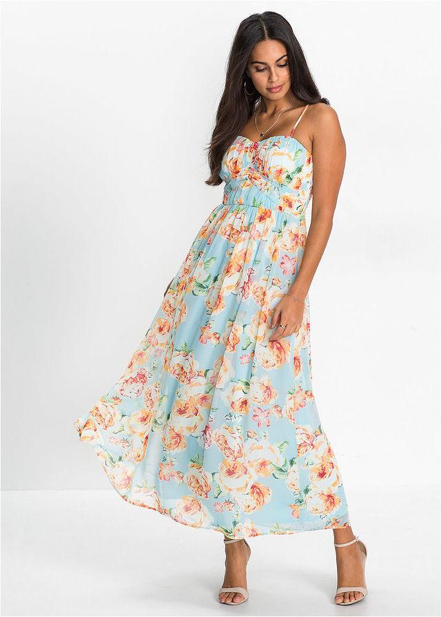 Śliczna KWIATY sukienka BODYFLIRT! R 44