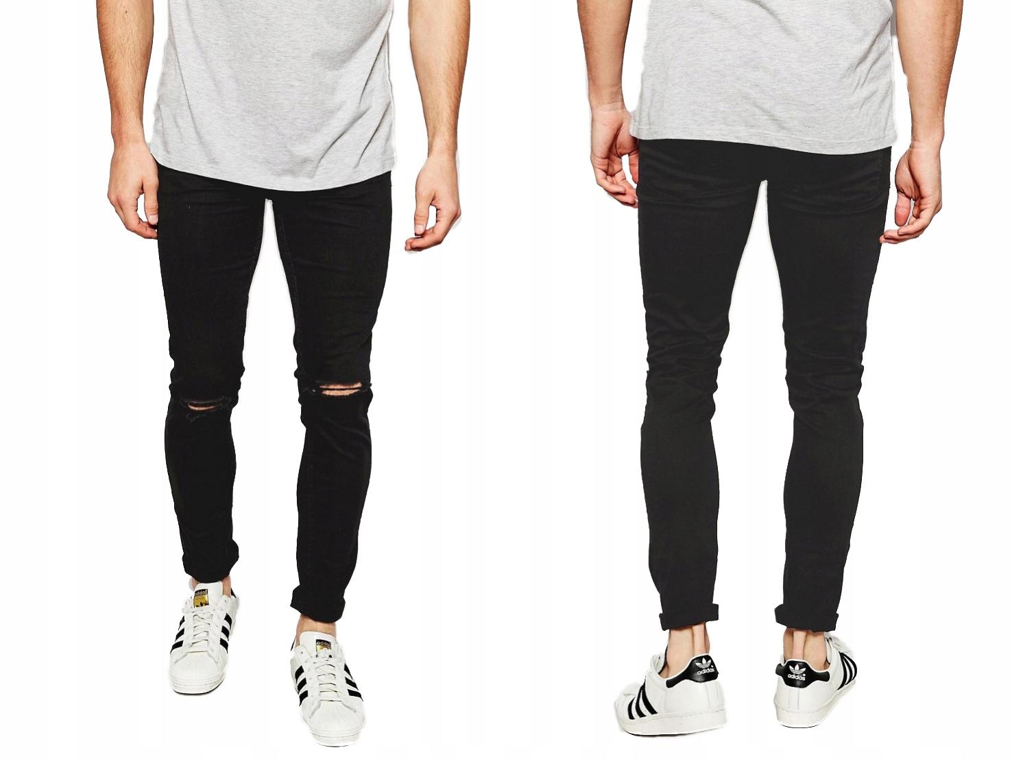 New Look Czarne Męskie Spodnie W30 L32