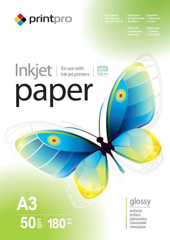 PrintPro Papier Foto Błyszczący A3 180g 50 szt