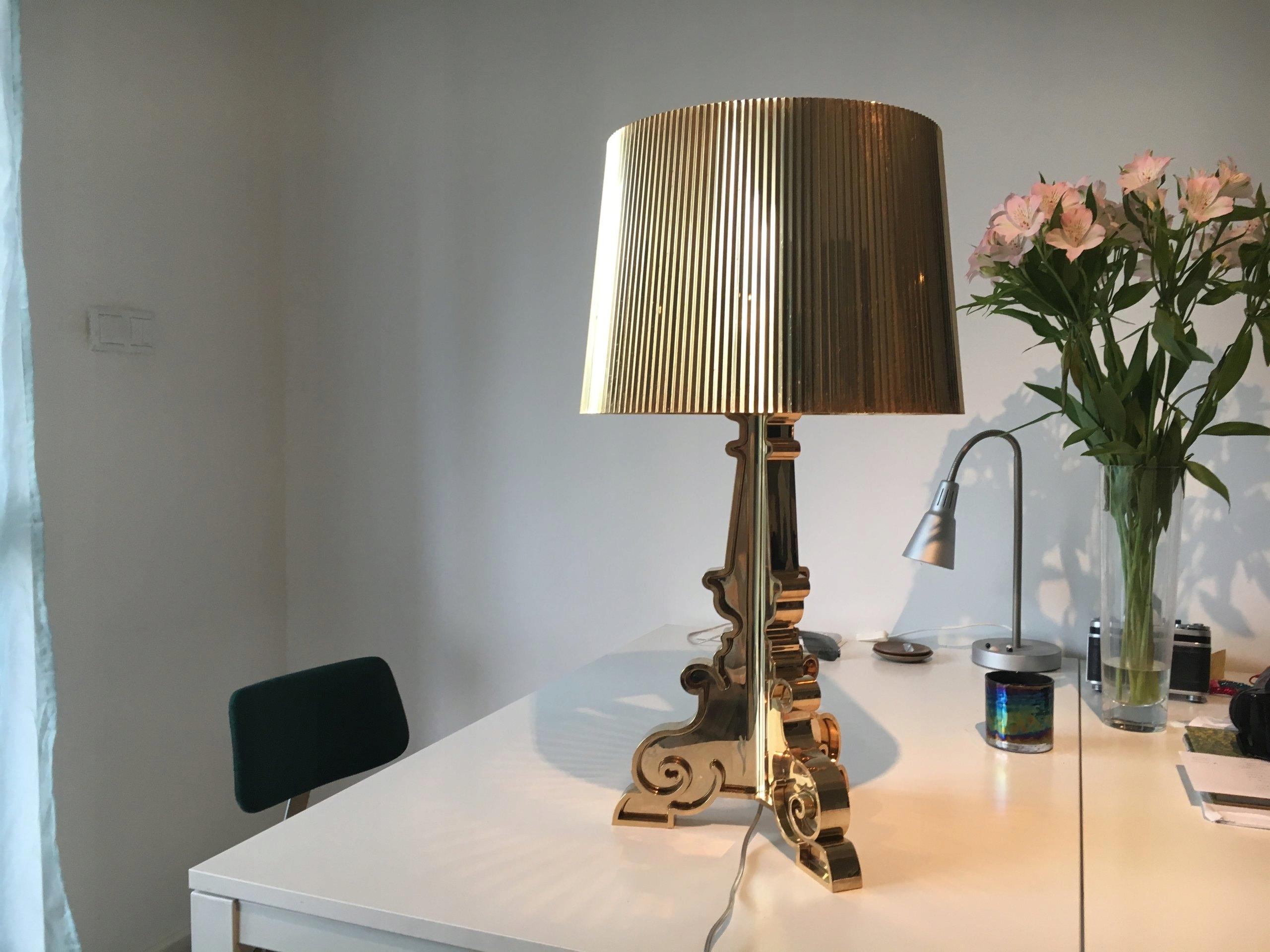 Lampa Kartell Bourgie Gold Złota 7528963453 Oficjalne Archiwum