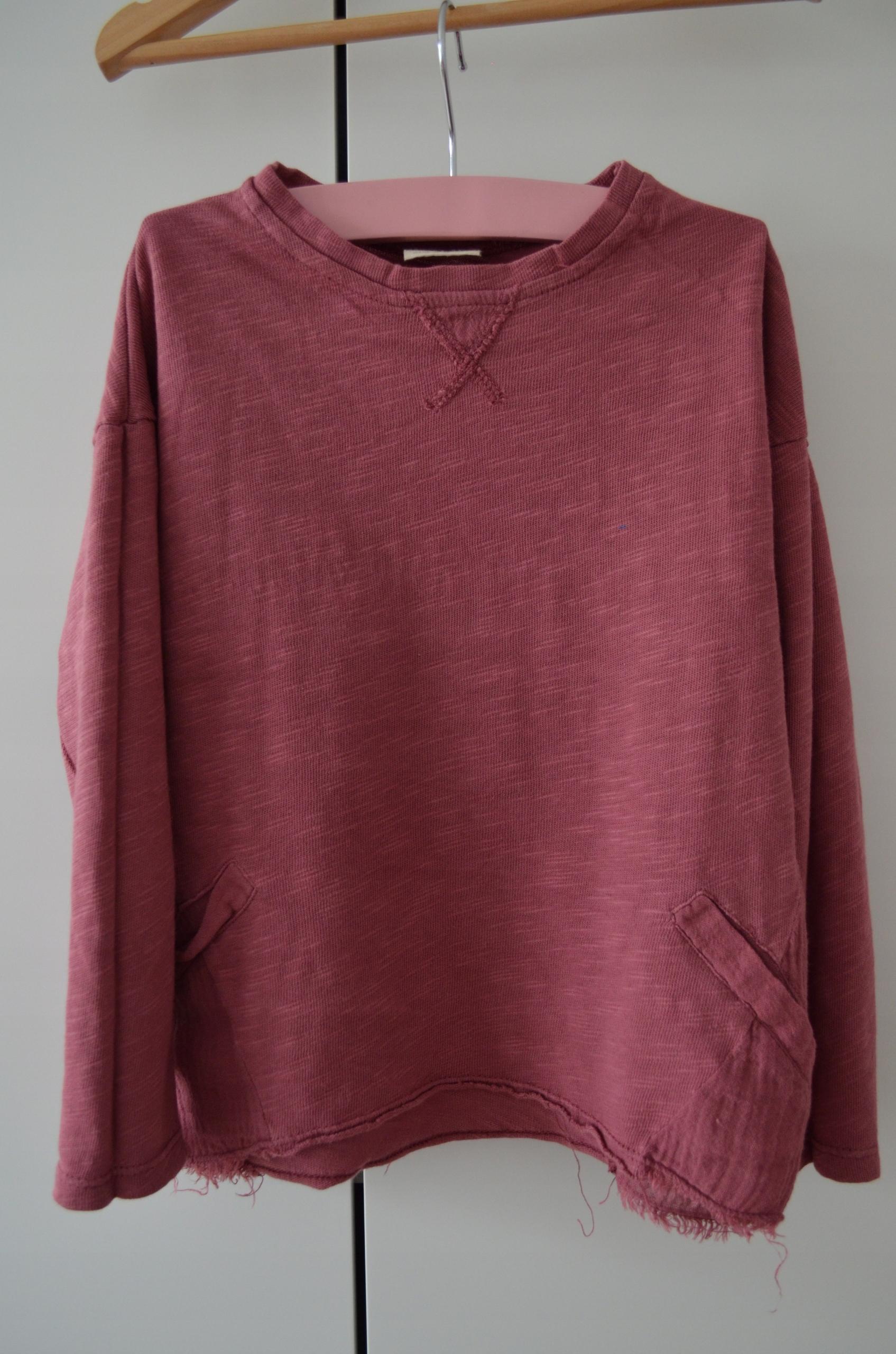 Zara Bluza z delikatnej tkaniny 104 cm Bdb