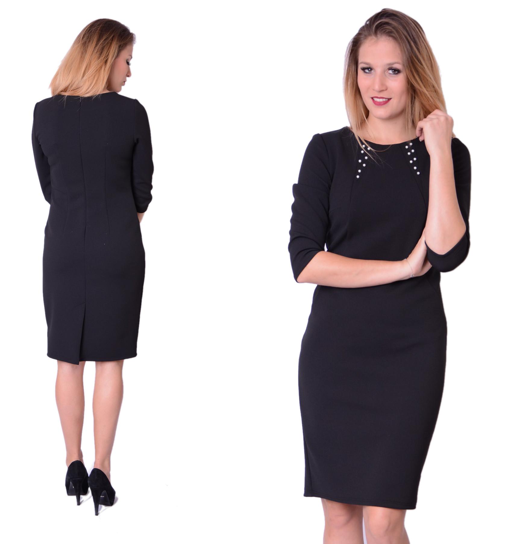 851df1d189 Sukienka Elegancka Perełki Czarne Wyprzedaż roz.38 - 7030350962 ...