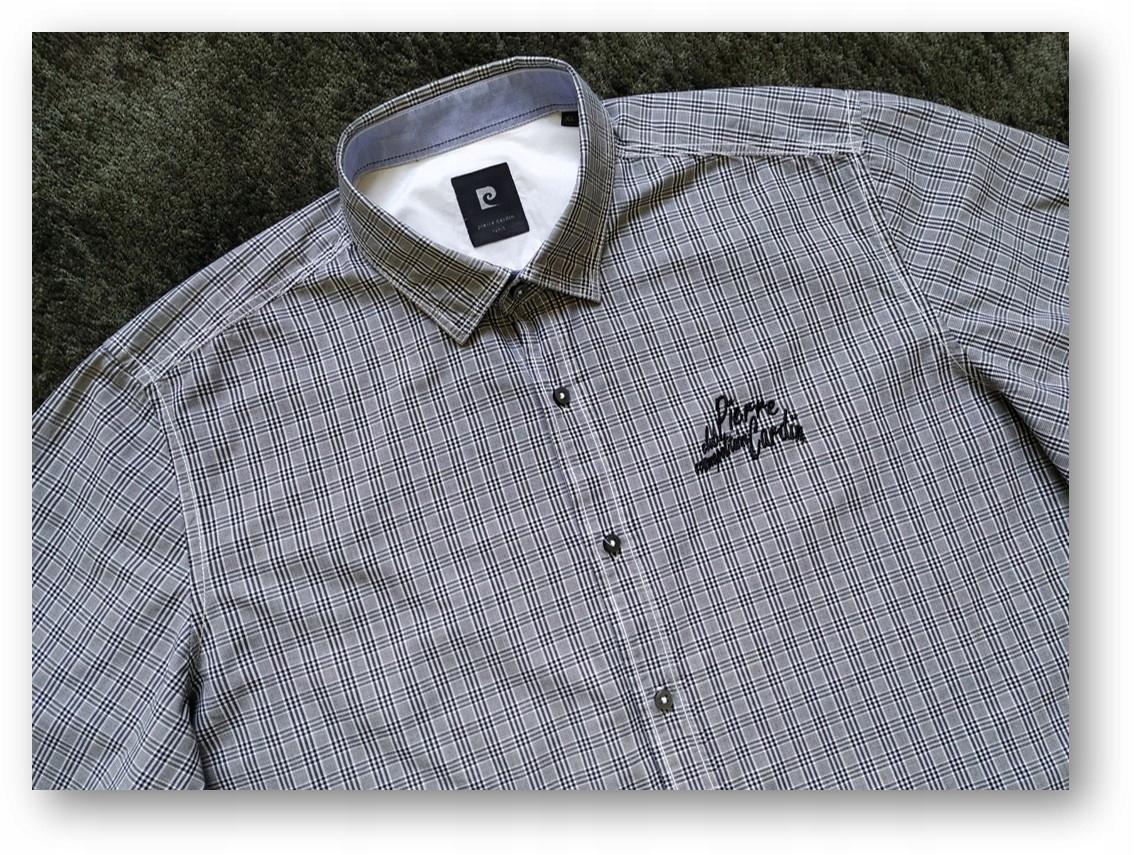 PIERRE CARDIN !!! Koszula casualowa krateczka L/XL