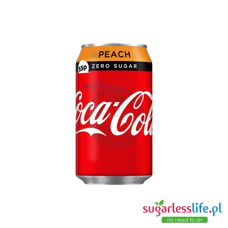 Coca Cola Zero Peach 24x330ml Zgrzewka BEZ CUKRU