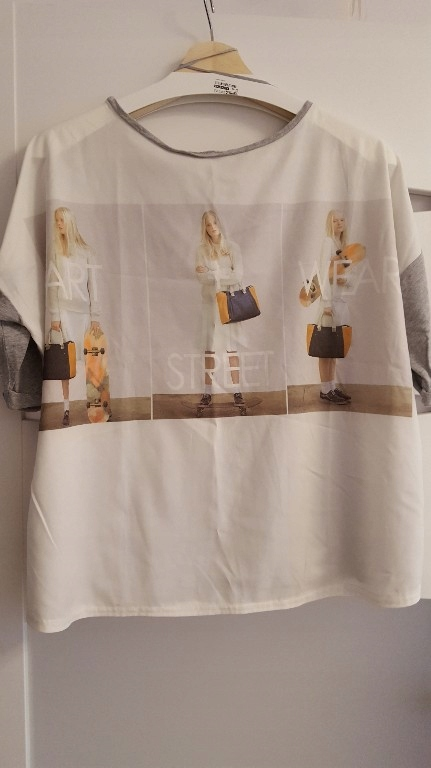 Bluzka Zara S oversize z dziewczyną