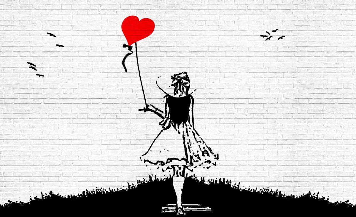 Fototapety 208x146 Dziewczynka Z Balonem Banksy 7328760822
