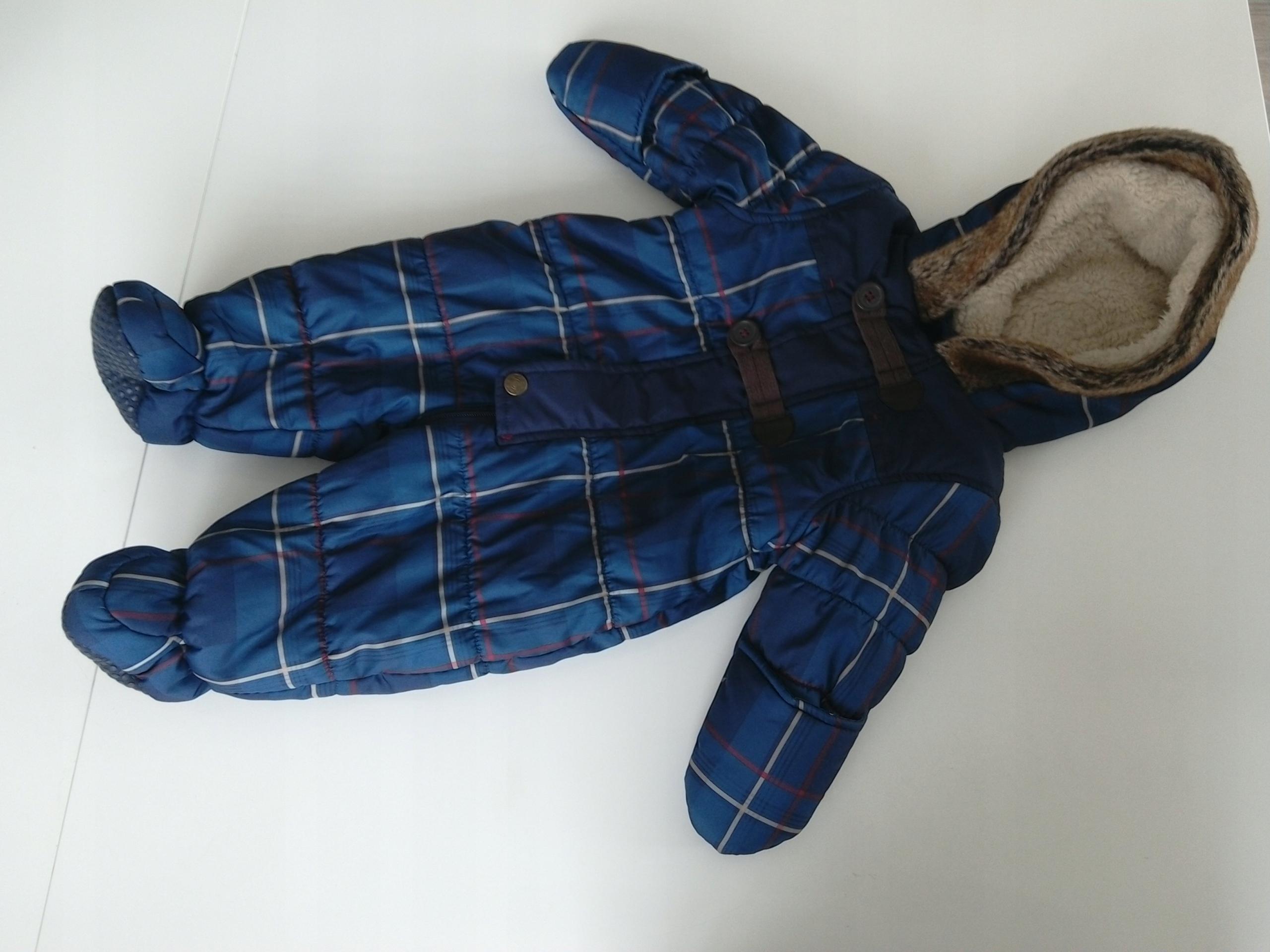 Nutmeg świetny jesienno-zimowy kombinezonik r.3-6m