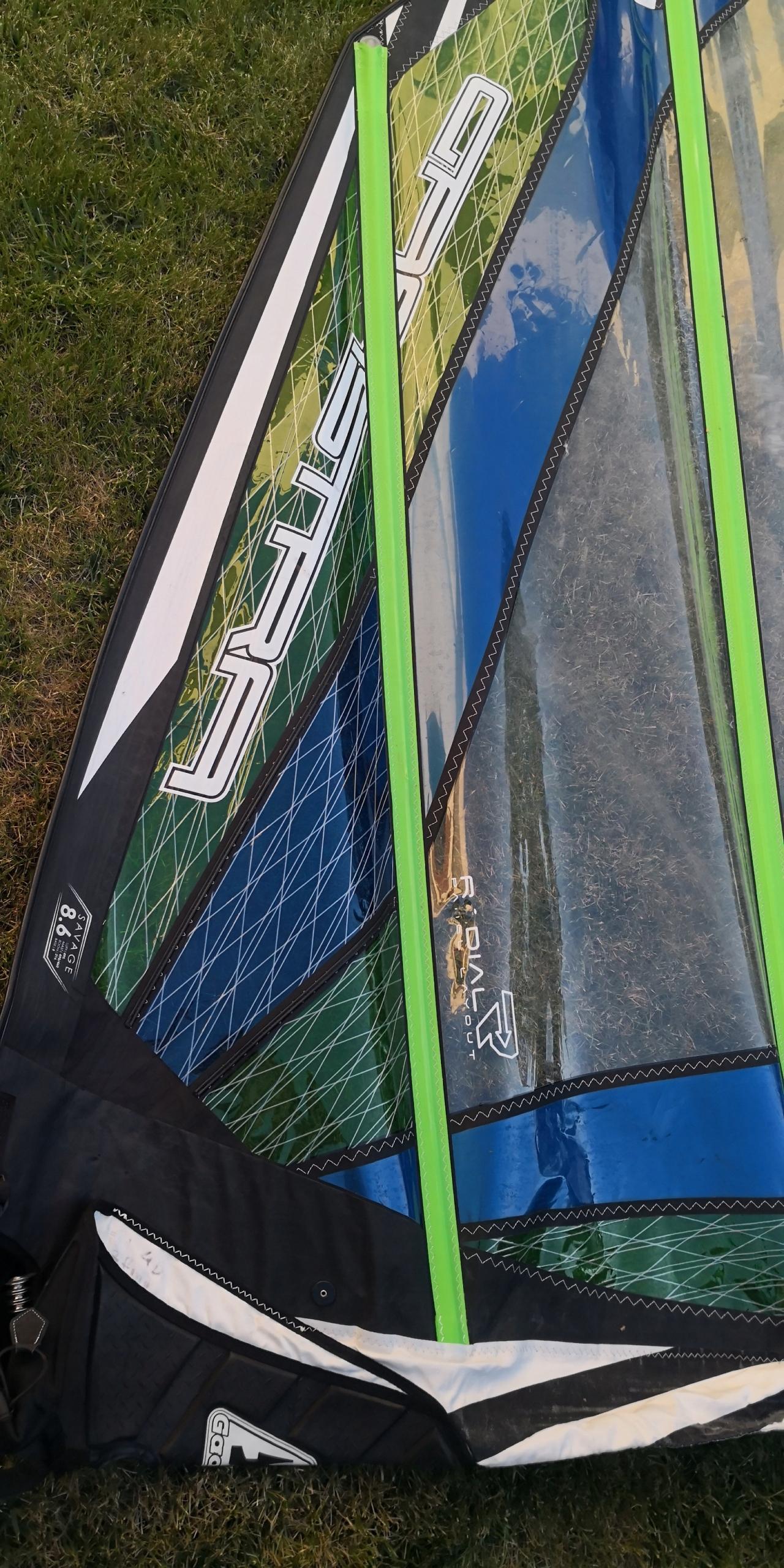 żagiel windsurfingowy Gastra savage 8,6