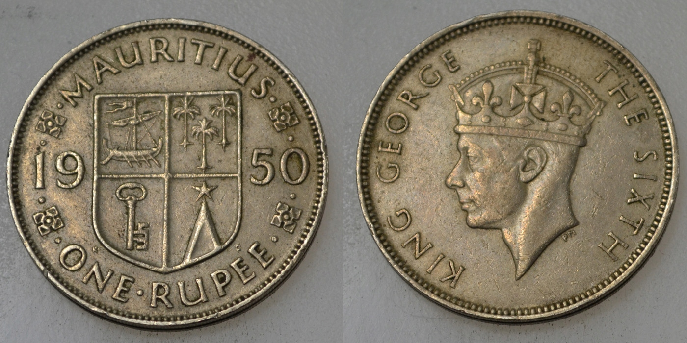 Mauritius 1 Rupia 1950 rok BCM