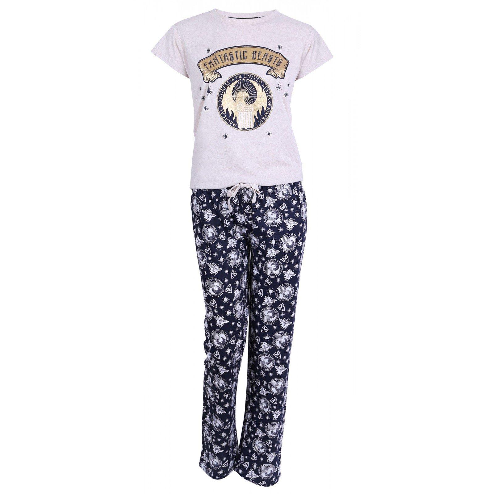 Beżowo-granatowa piżama Fantastic Beasts 46-48