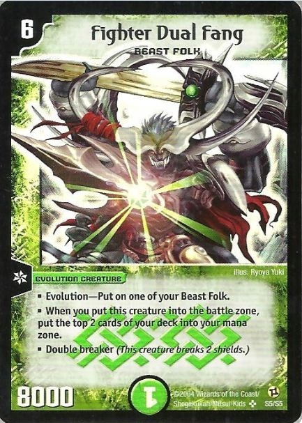 *DM-02 DUEL MASTERS - FIGHTER DUAL FANG - HOLO !!
