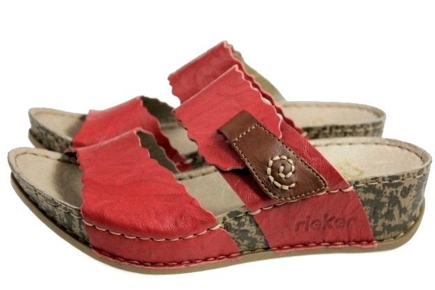 Rieker Klapki Skórzane 69282 Art-shoes 36