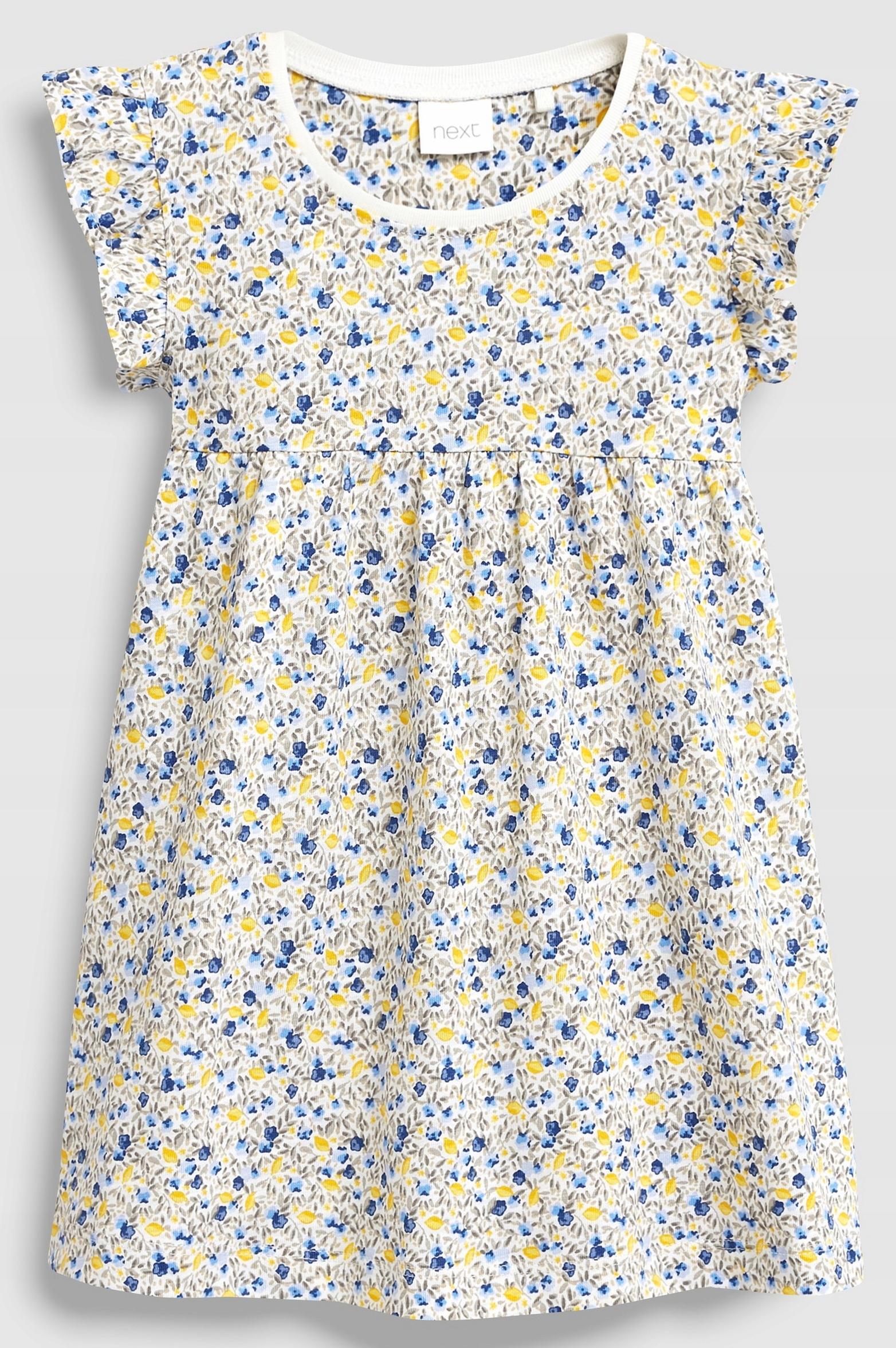 NEXT SUKIENKA Blue Yellow Ditsy 1,5-2 L 2019