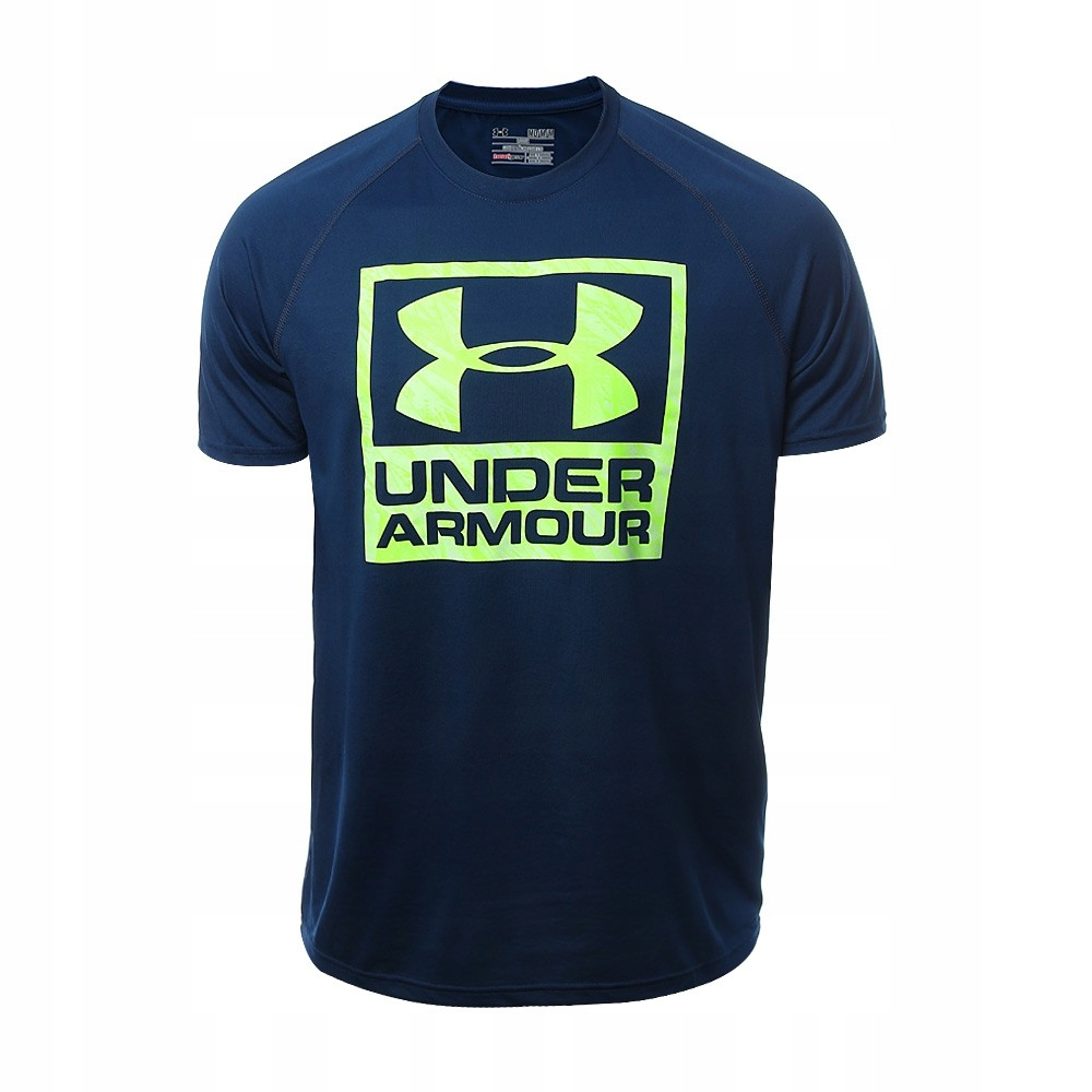 UNDER ARMOUR TECH BOXED LOGO koszulka treningowa M
