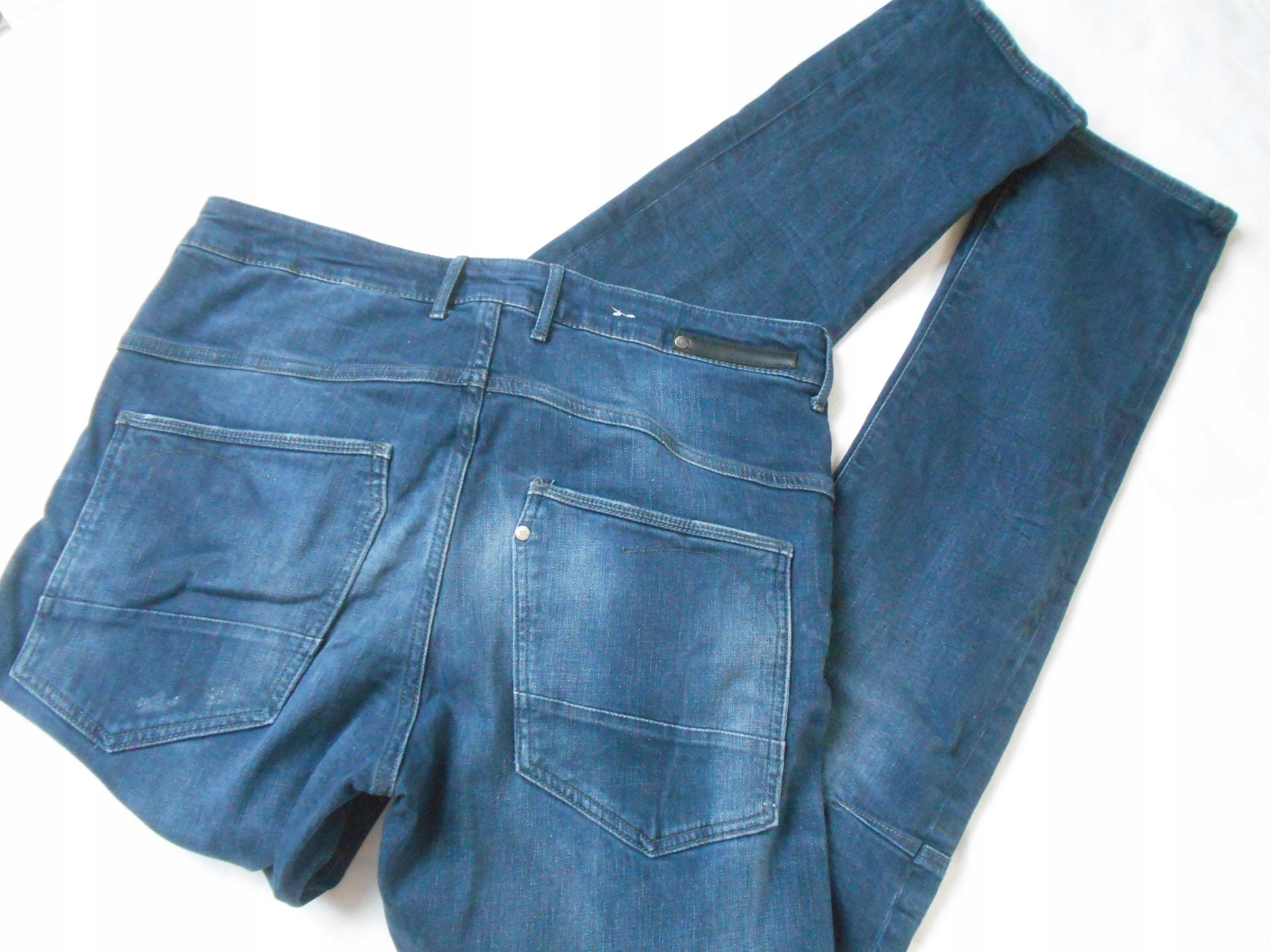 HM spodnie Jeans męskie stretch_36/34 pas 92 cm