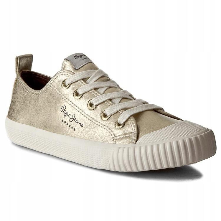 Damskie buty trampki PEPE JEANS złote półbuty NOWE