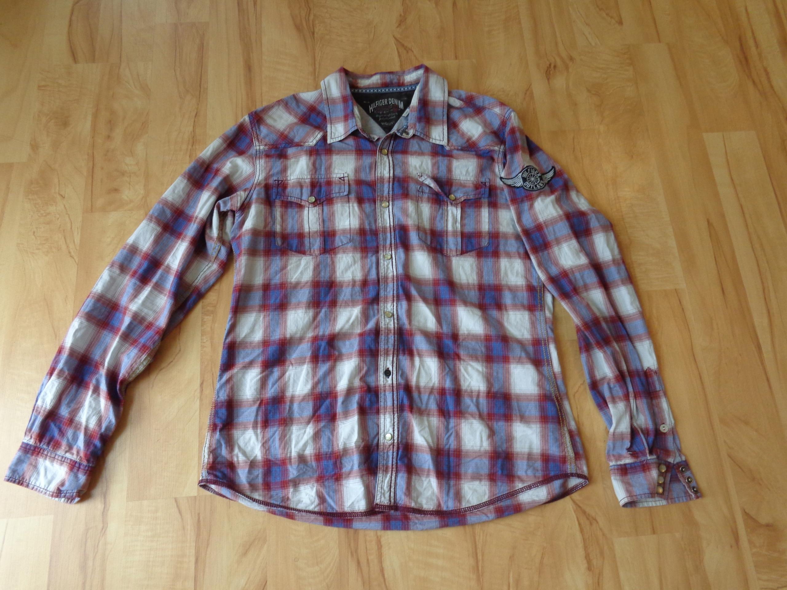 Koszula TONMMY HILFIGER DENIM bawełna rozmiar L/XL