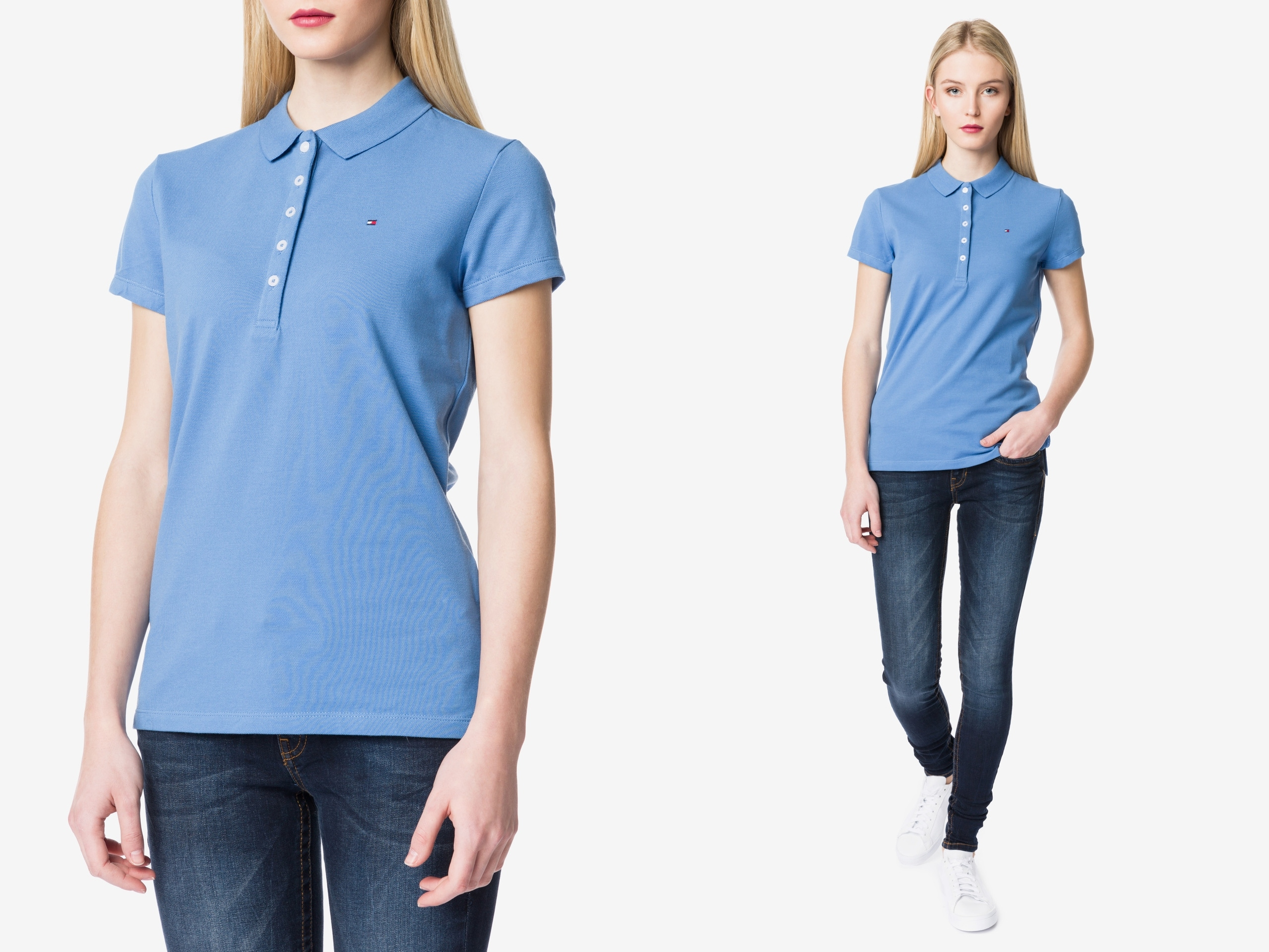 Tommy Hilfiger New Chiara Koszulka Polo Slim fif S