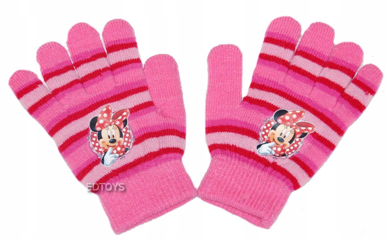 Rękawiczki zimowe akryl Disney 4-7lat MINNIE W12